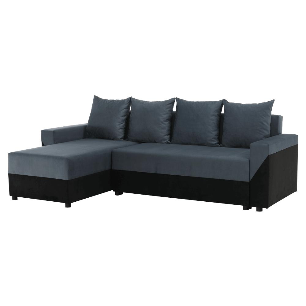 Univerzális ülőgarnitúra, fekete/szürke, TIPO