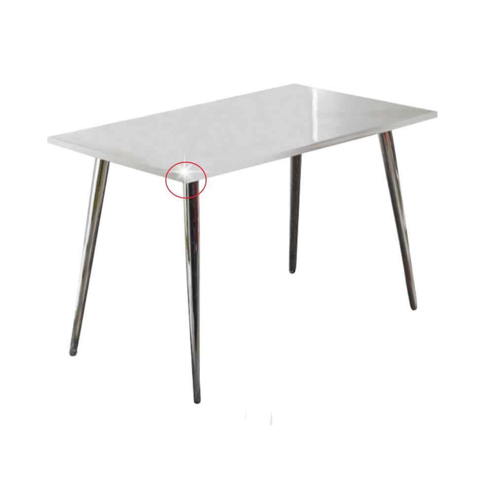 Jedálenský stôl 120x70, extra vyský lesk HG, PEDRO, poškodený tovar