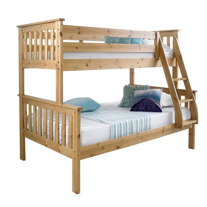 Poschodová rozložiteľná posteľ, prírodná, LUINI