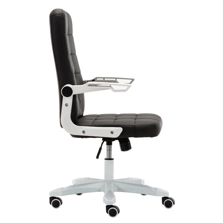 Kancelárske kreslo, biela/čierna, ZARGO, pohľad z boku