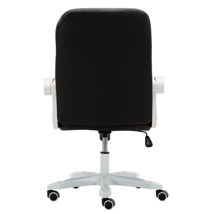 Kancelárske kreslo, biela/čierna, ZARGO, pohľad zo zadu