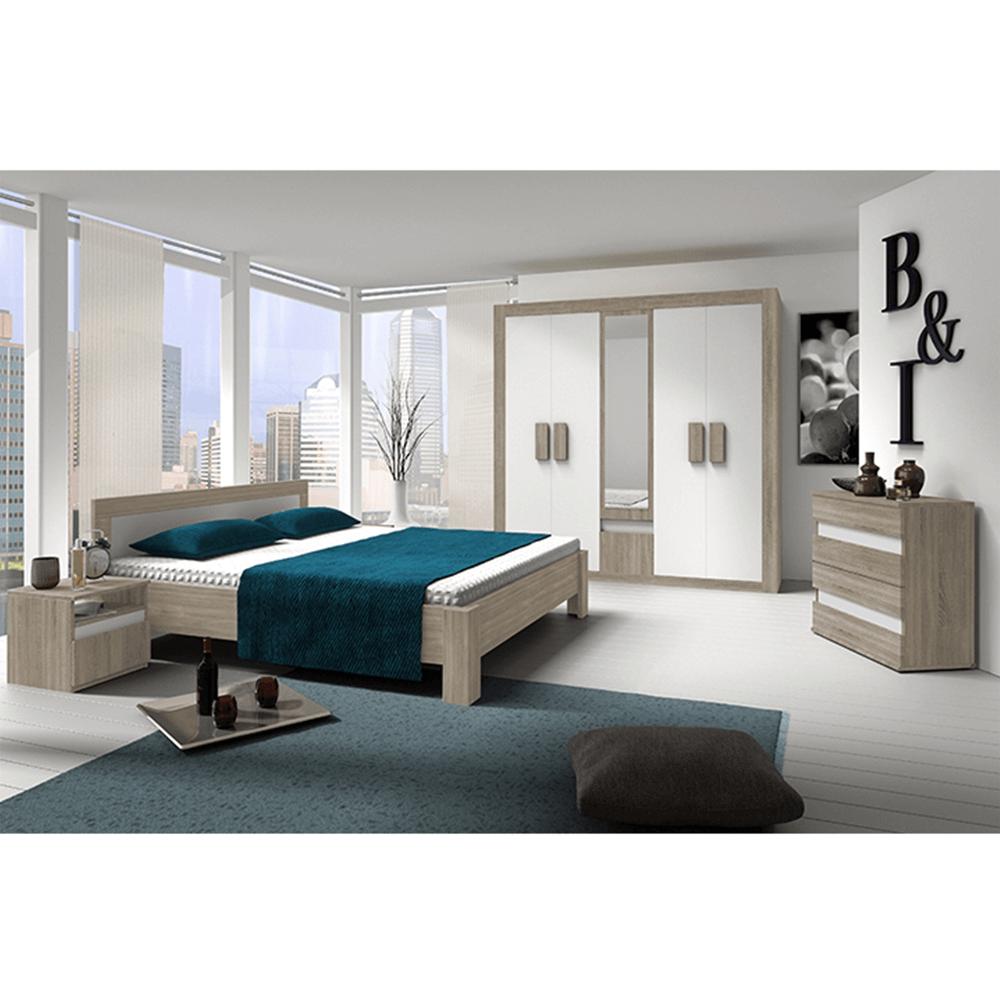 Dormitor, stejar sonoma /alb, MEDIOLAN NEW
