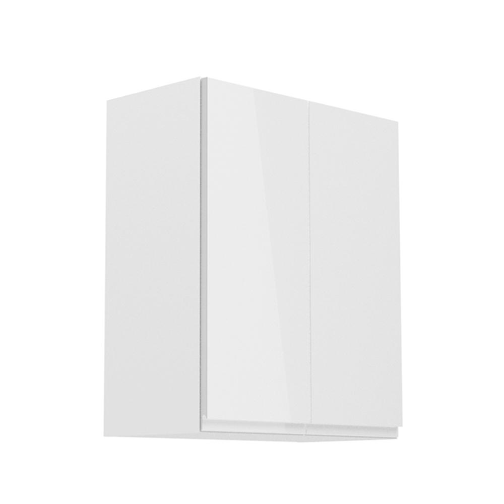 Felsőszekrény, fehér/fehér extra magasfényű, AURORA G602F