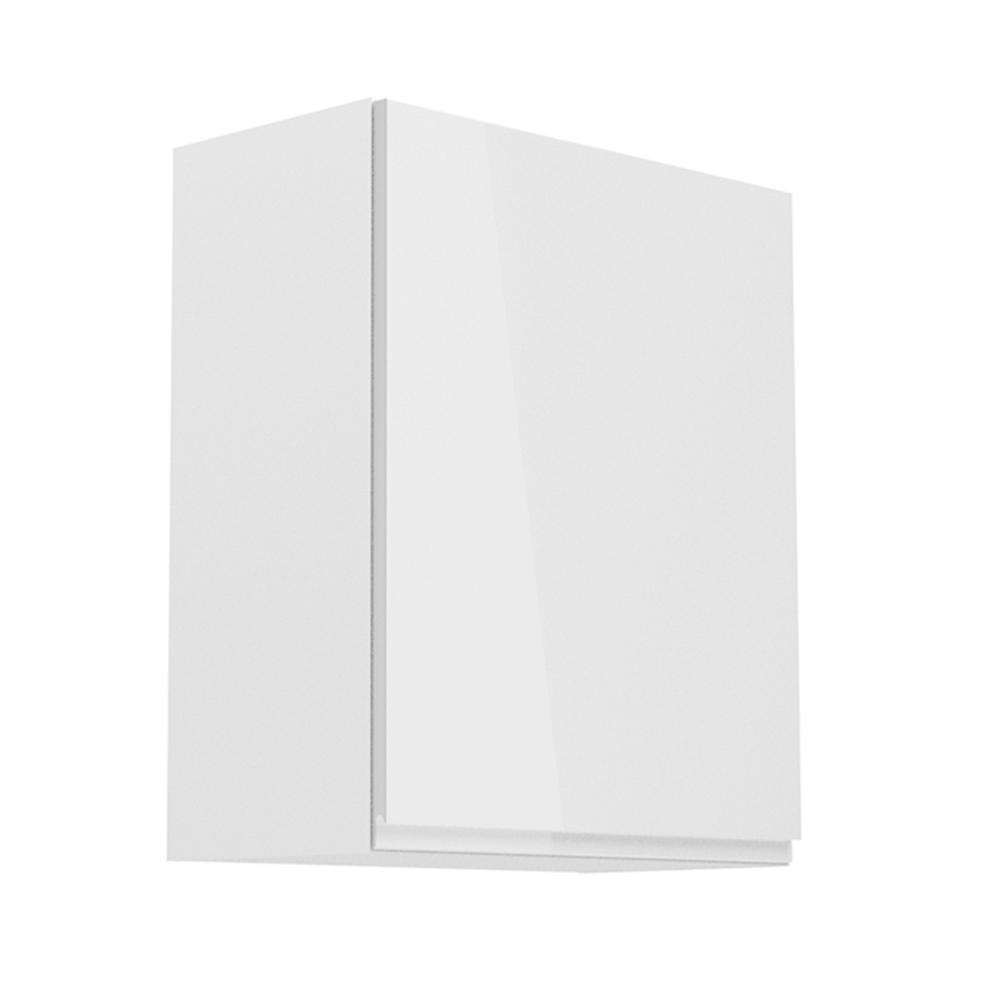 Felsőszekrény, fehér/fehér extra magasfényű, jobbos, AURORA G601F