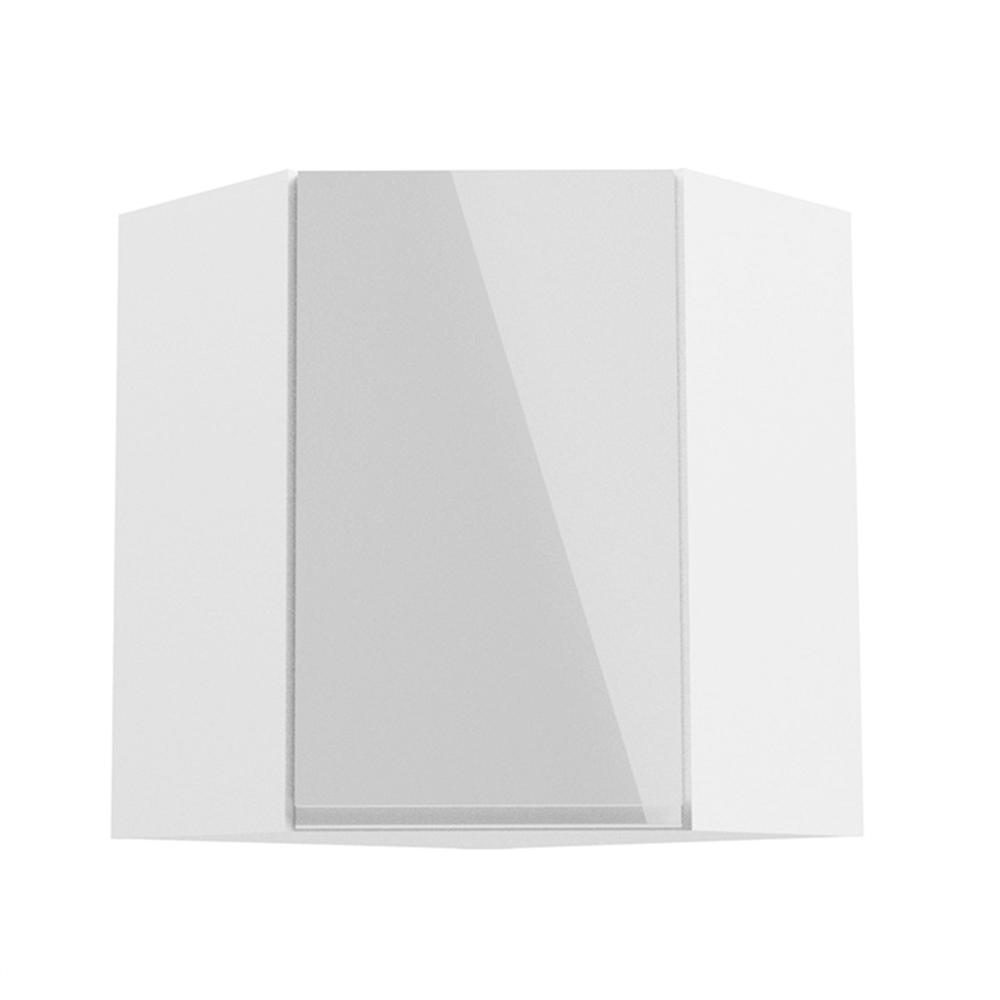 Felsőszekrény, fehér/fehér extra magasfényű, AURORA G60N