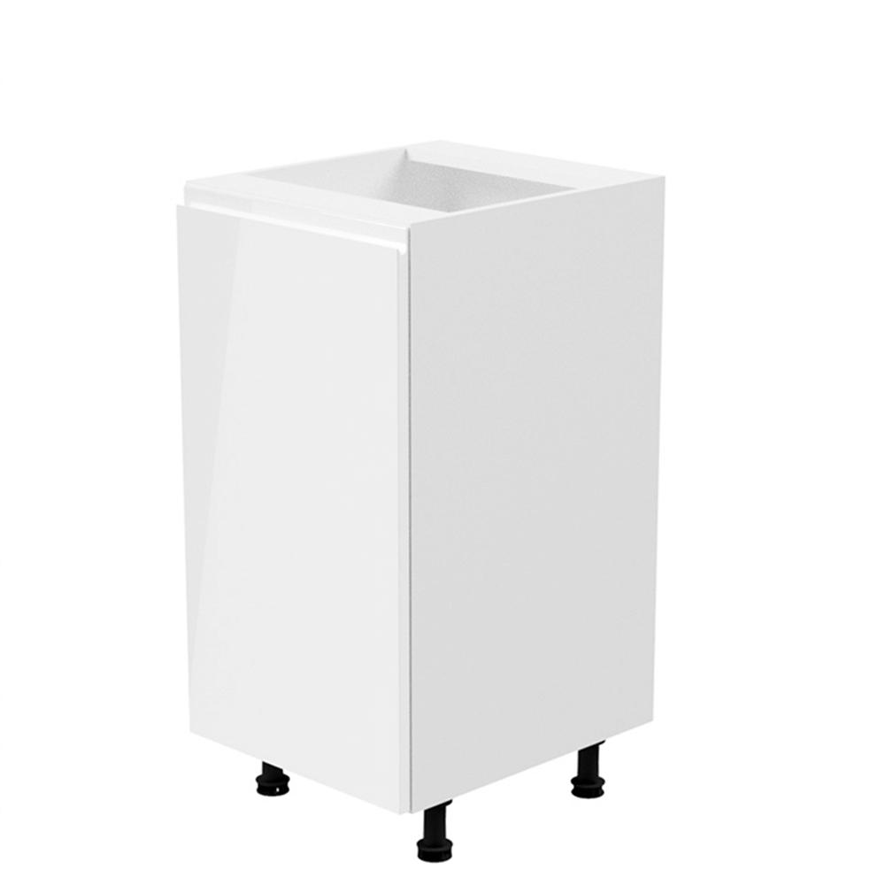 Alsószekrény, fehér/fehér extra magasfényű, balos, AURORA D40
