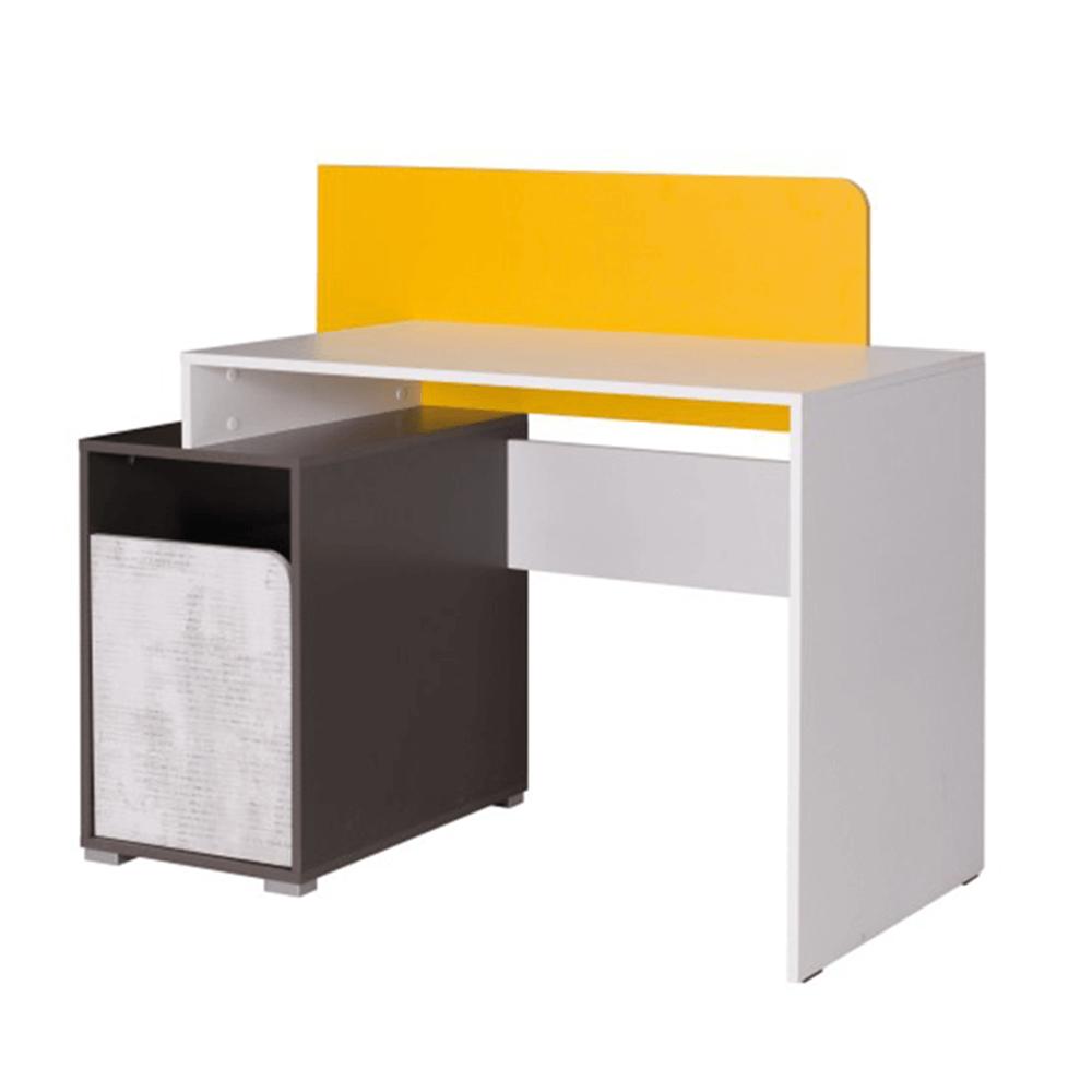 Masă PC B8, alb / gri grafit /  / galben, MATEL