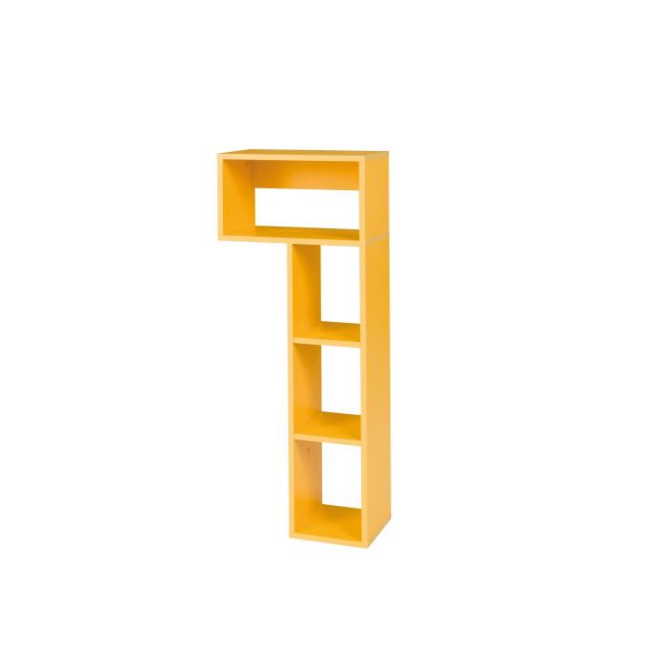 Komoda, 1 dverová so 4 šuplíkmi, jaseň/fialová, EGO L6