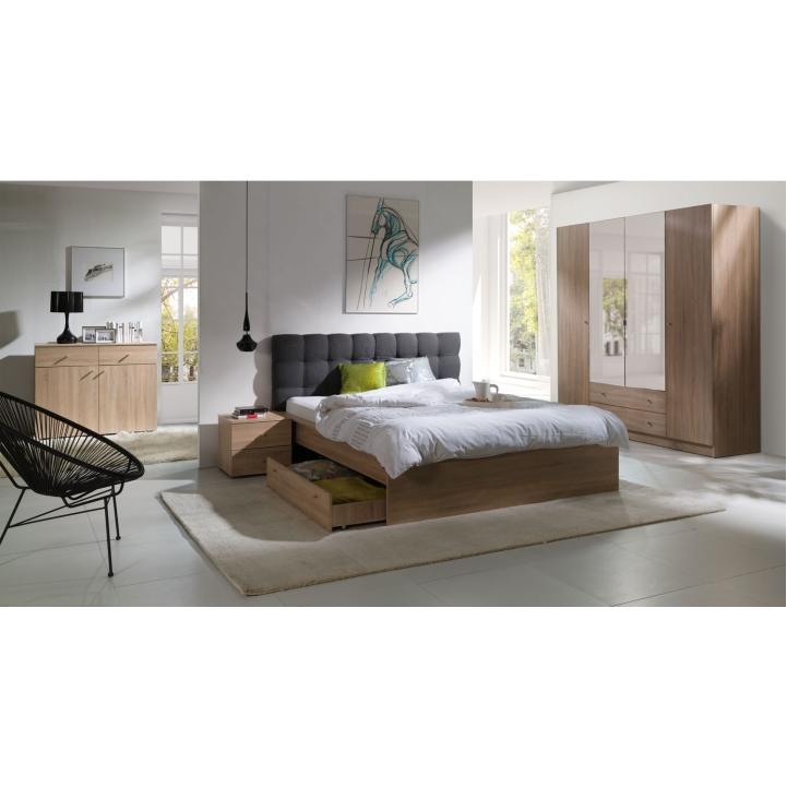 Nočný stolík (2ks), dub sonoma, MEXIM v interiéri