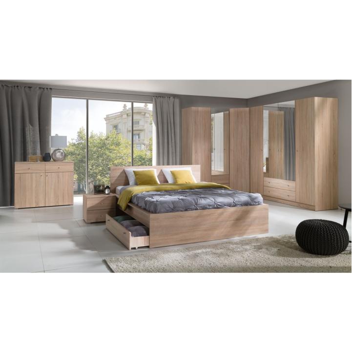 Nočný stolík (2ks), dub sonoma, MEXIM v spálni