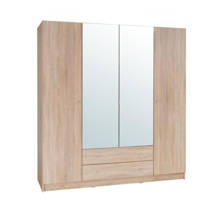 4-dverová skriňa, dub sonoma, MEXIM