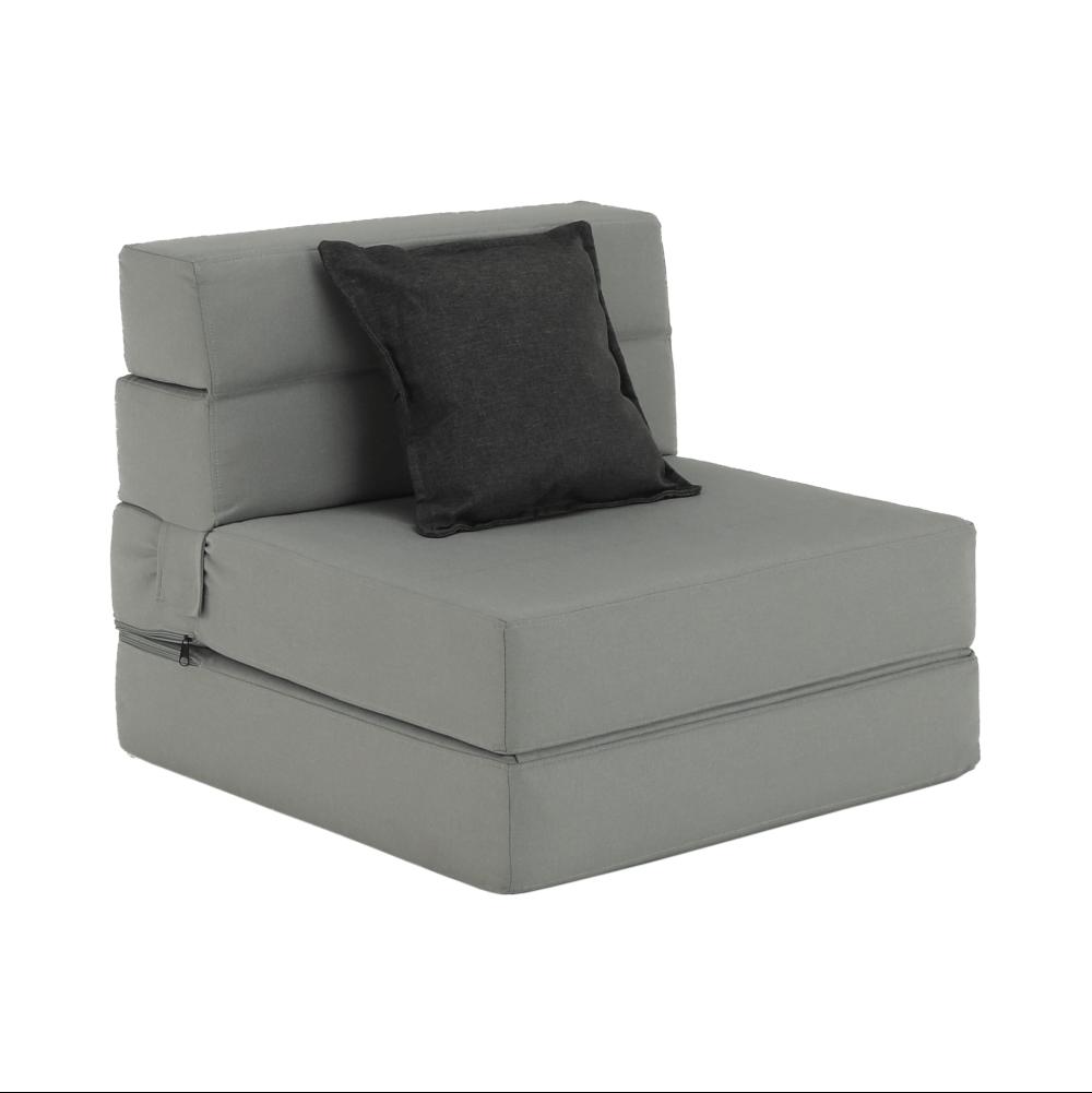 Kinyitható fotel, szürke, ZAFIR