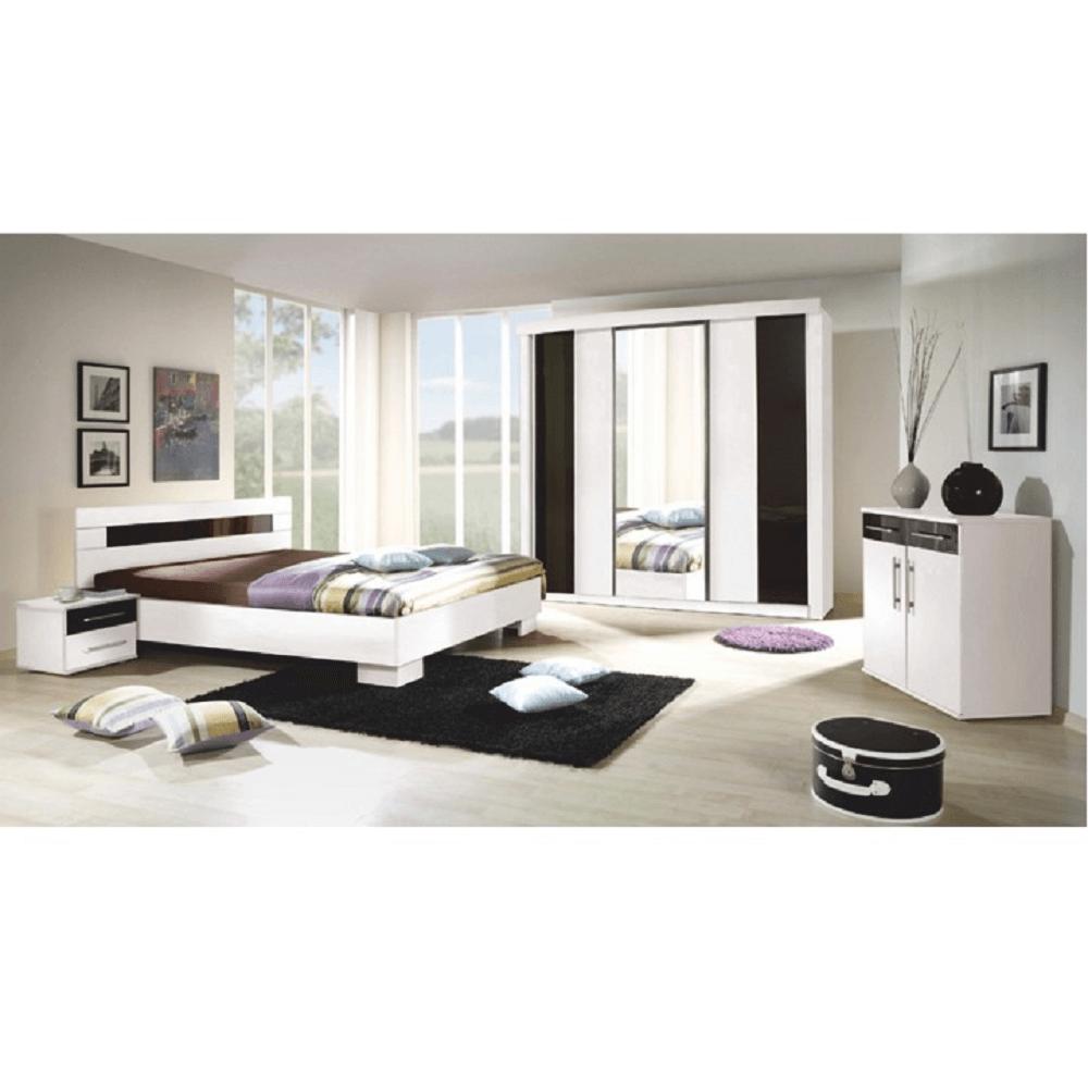 Set dormitor, alb / negru, RUBLIN