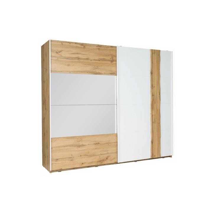 2-dverová skriňa, dub wotan/biela, 200, VODENA