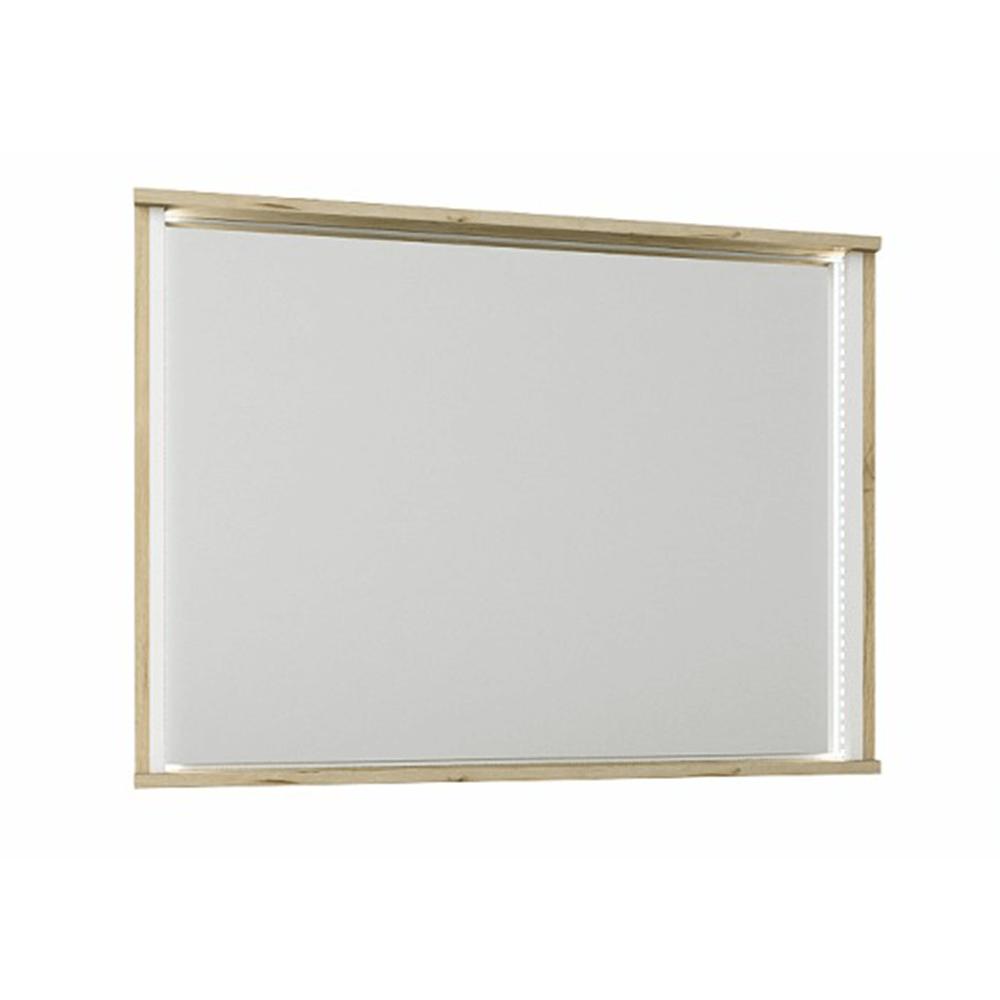 Oglindă, stejar wellington / alb, LEIRA
