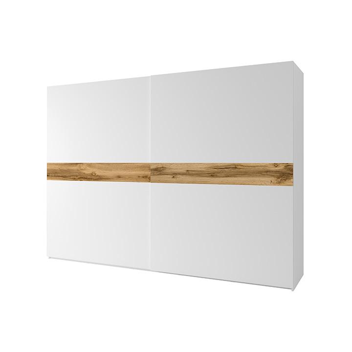 2- ajtós szekrény, fehér/tölgy wotan, NAGAMA