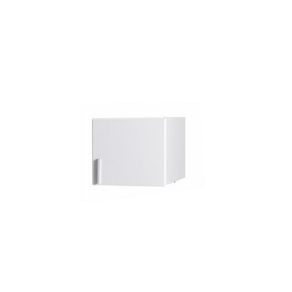 Felsőszekrény, fehér/fehér extra magasfényű, SNOW TYP 7