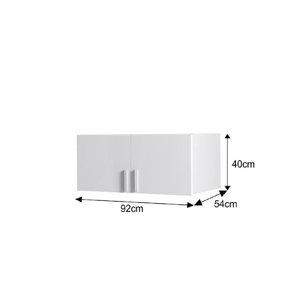 Nadstavec, biela/biely extra vysoký lesk, SNOW TYP 8
