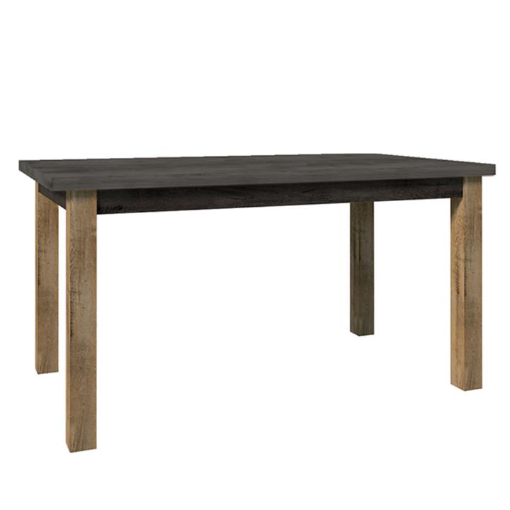 Étkezőasztal, nyitható, tölgy lefkas sötét/smooth szürke, MONTANA STW