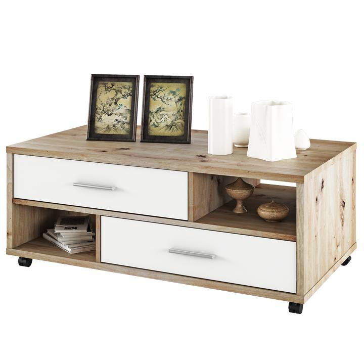 Konferenčný stolík, dub artisan/biela, DESIRE, fotografia