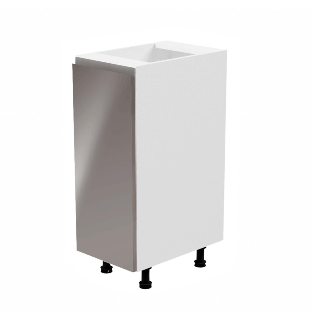 Dulap inferior, alb/gri extra lucios, stânga, AURORA D30