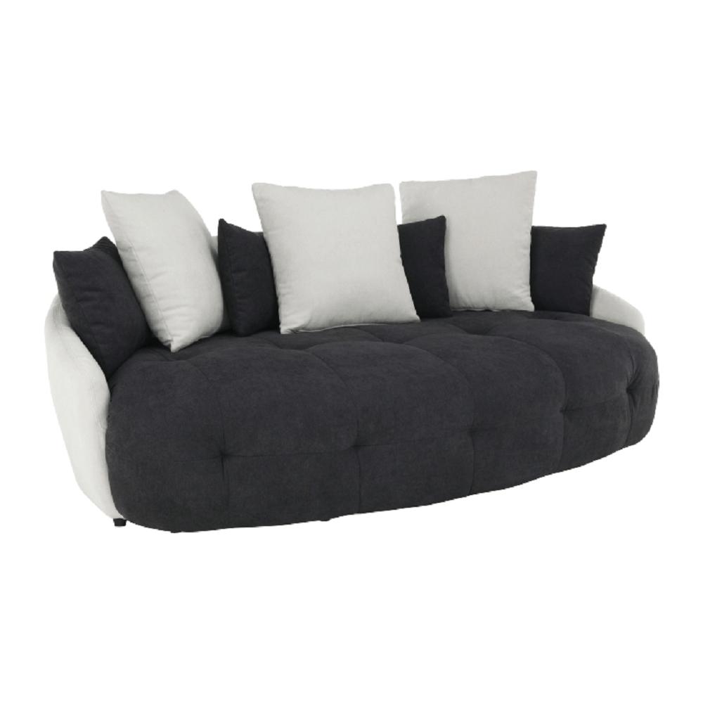 Kanapé, fehér/fekete/világosszürke, VILDAN