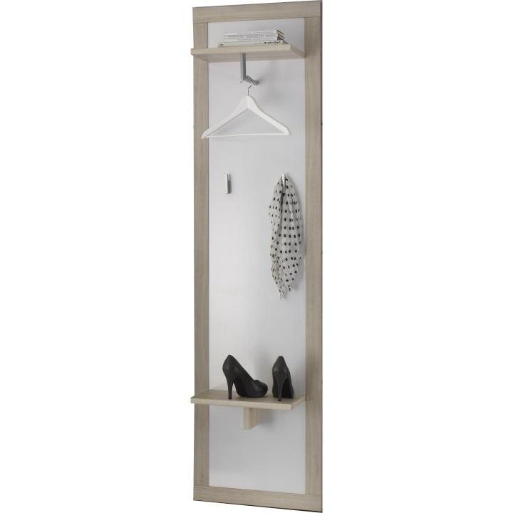 Vešiakový panel, dub sonoma/biela, CREMA