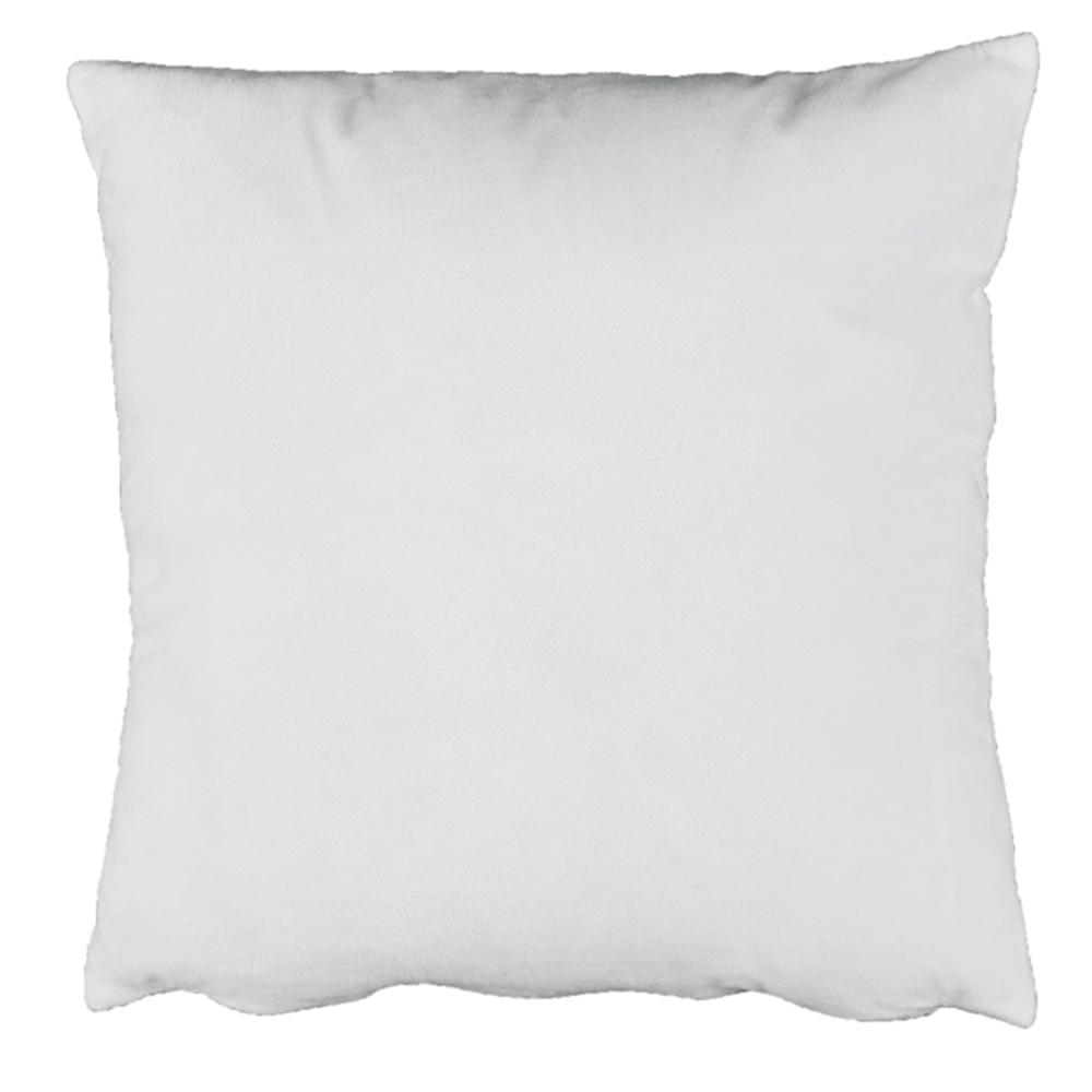 Pernă, material textil de catifea alb, 45x45, ALITA TIPUL 13