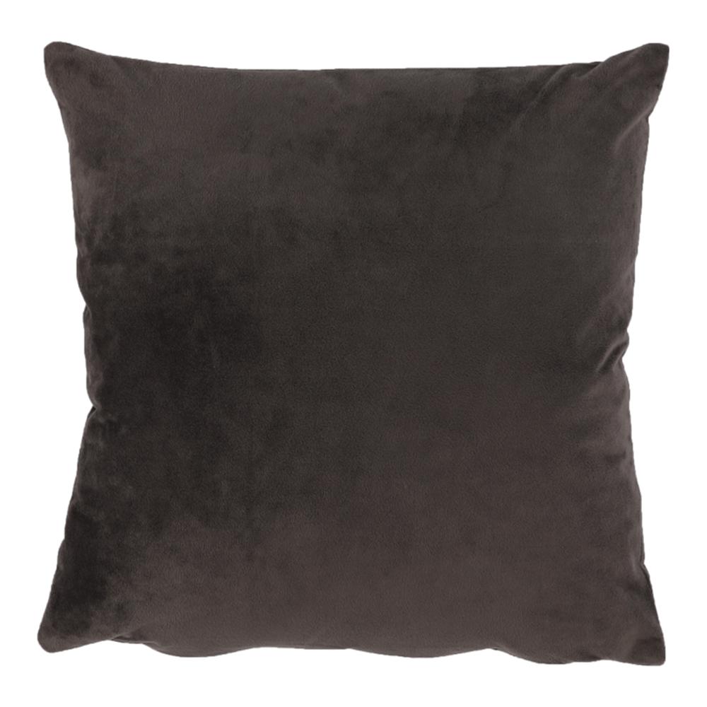 Pernă, material textil de catifea maro închis, 45x45, ALITA TIPUL 7