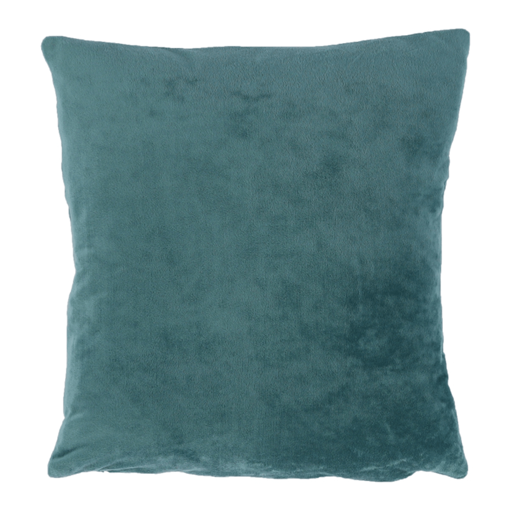 Pernă, material textil de catifea petrol, 45x45, ALITA TIPUL 5