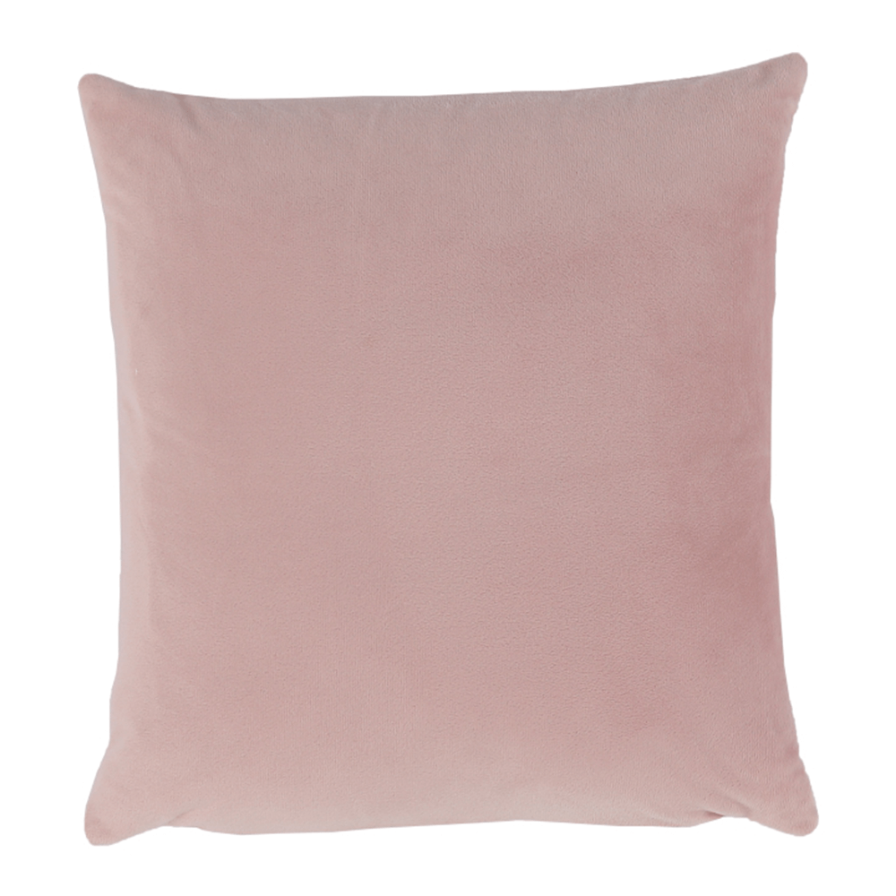 Pernă, material textil de catifea roz pudră, 45x45, ALITA TIPUL 2