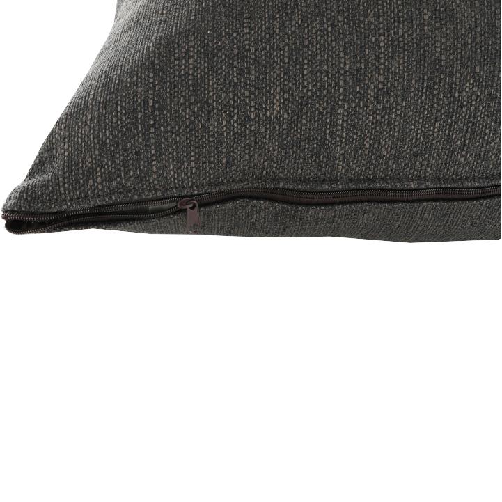 Leňoška s taburetom, sivá, pravá, DURAN, detail vankúša