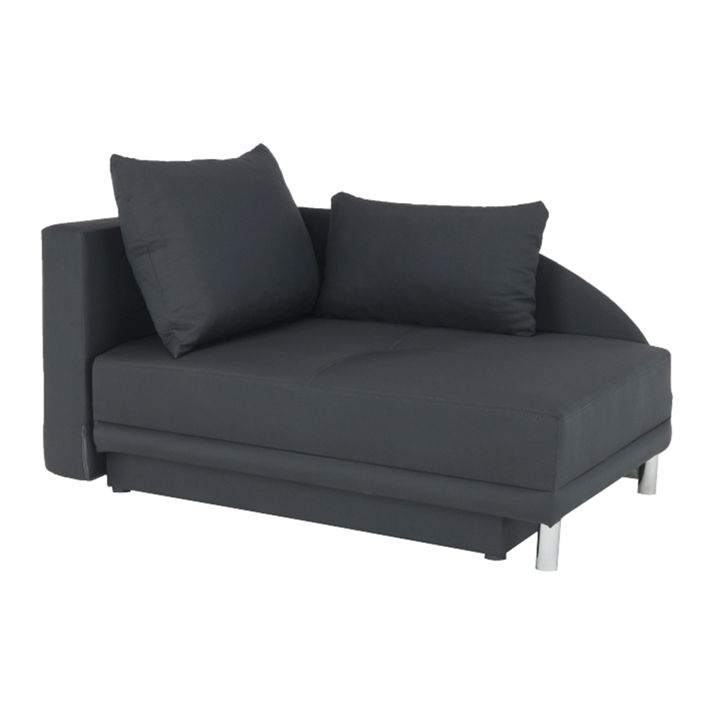 Colţar extensibil, material textil gri-negru, stânga, LAUREL