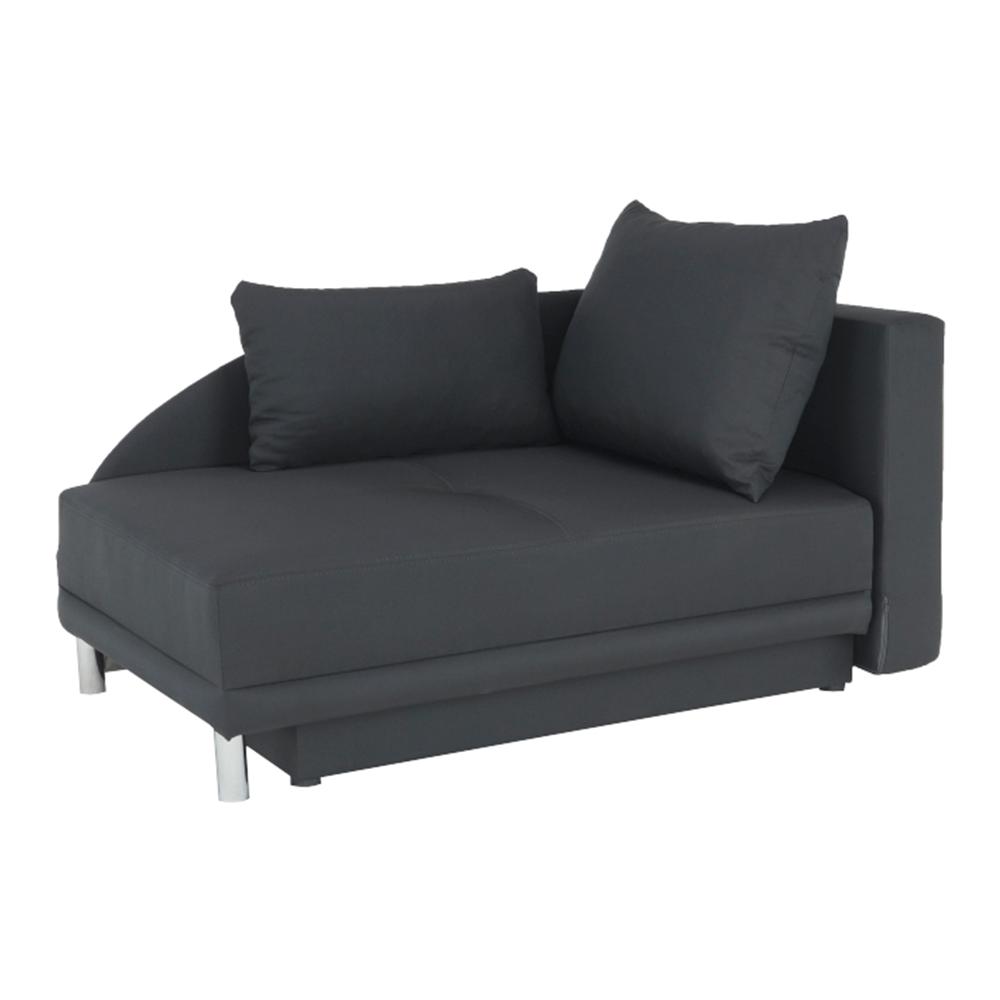 Colţar extensibil, material textil gri-negru, dreapta, LAUREL