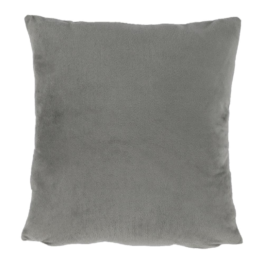 Pernă, material textil de catifea gri-maro Taupe, 60x60, OLAJA TIPUL 3