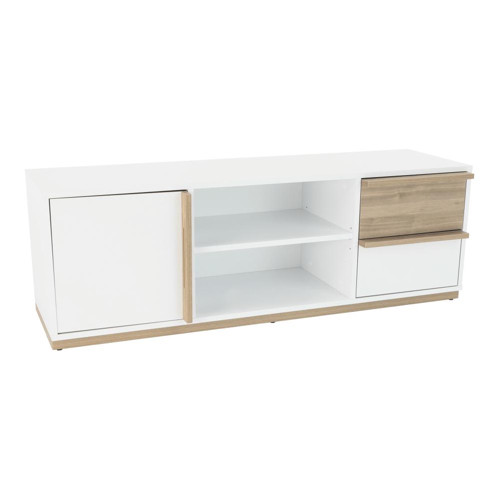 RTV asztal,select dió/fehér, KNOX E4