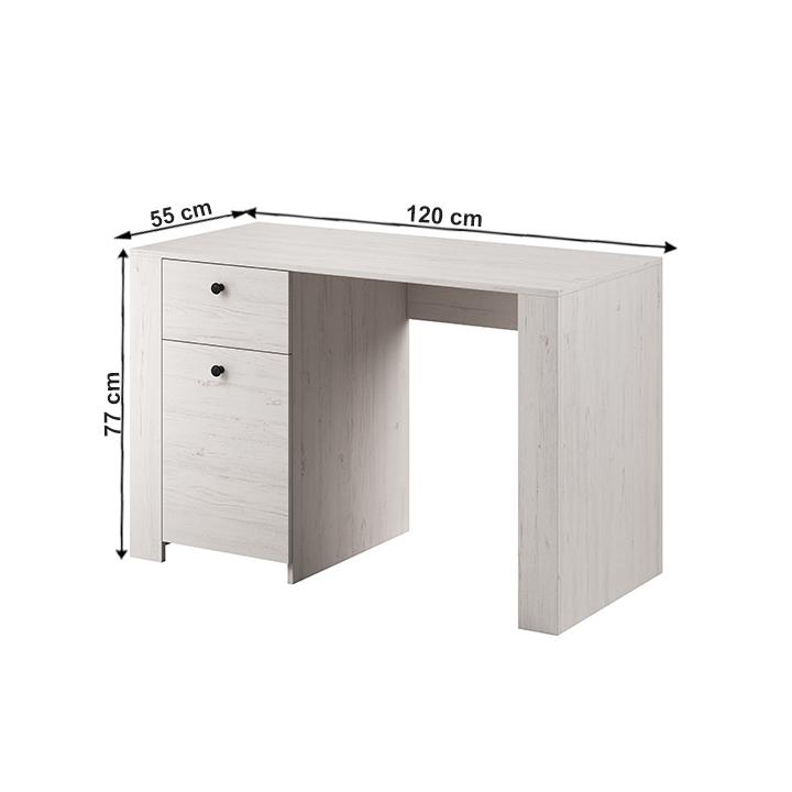PC stôl, sosna andersen, VINCE RB120, s rozmermi