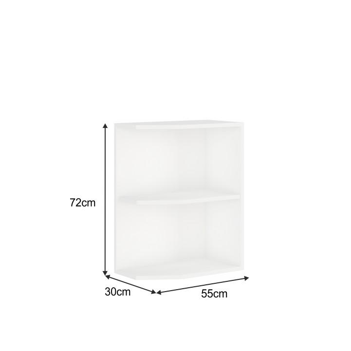 Spodná rohová skrinka, biela, SPLIT 30 D ZAK BB, s rozmermi