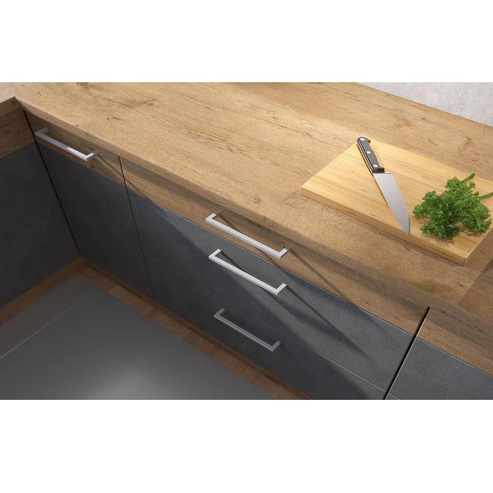 Pracovná doska pri kuchyni Vega sivá matná/dub lancelot