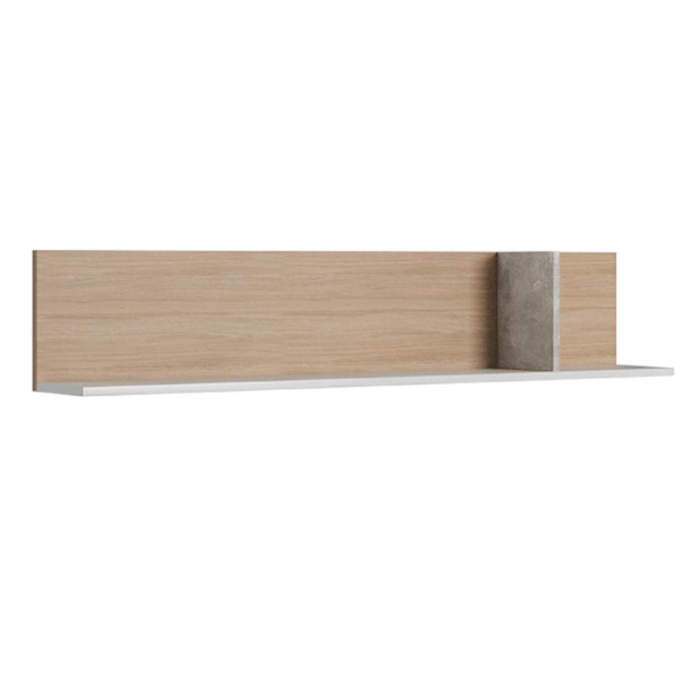 Raft, beton/stejar jantar/alb mat, LAGUNA