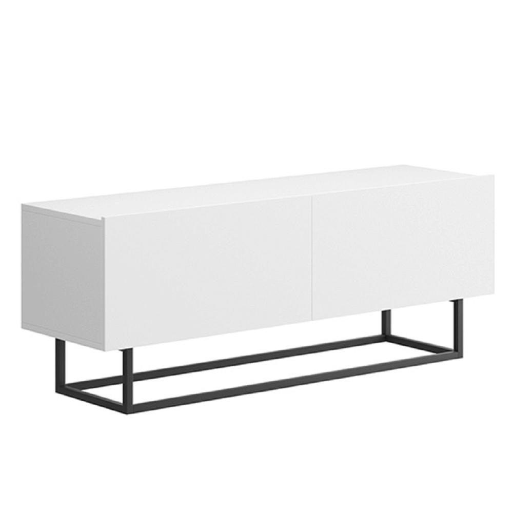 RTV asztal lábazat nélkül, fehér, SPRING ERTV120