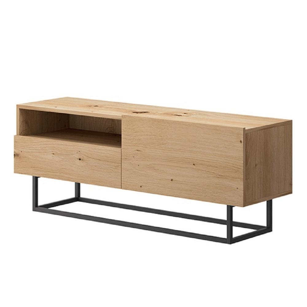 RTV asztal lábazat nélkül, tölgy artisan, SPRING ERTVSZ120