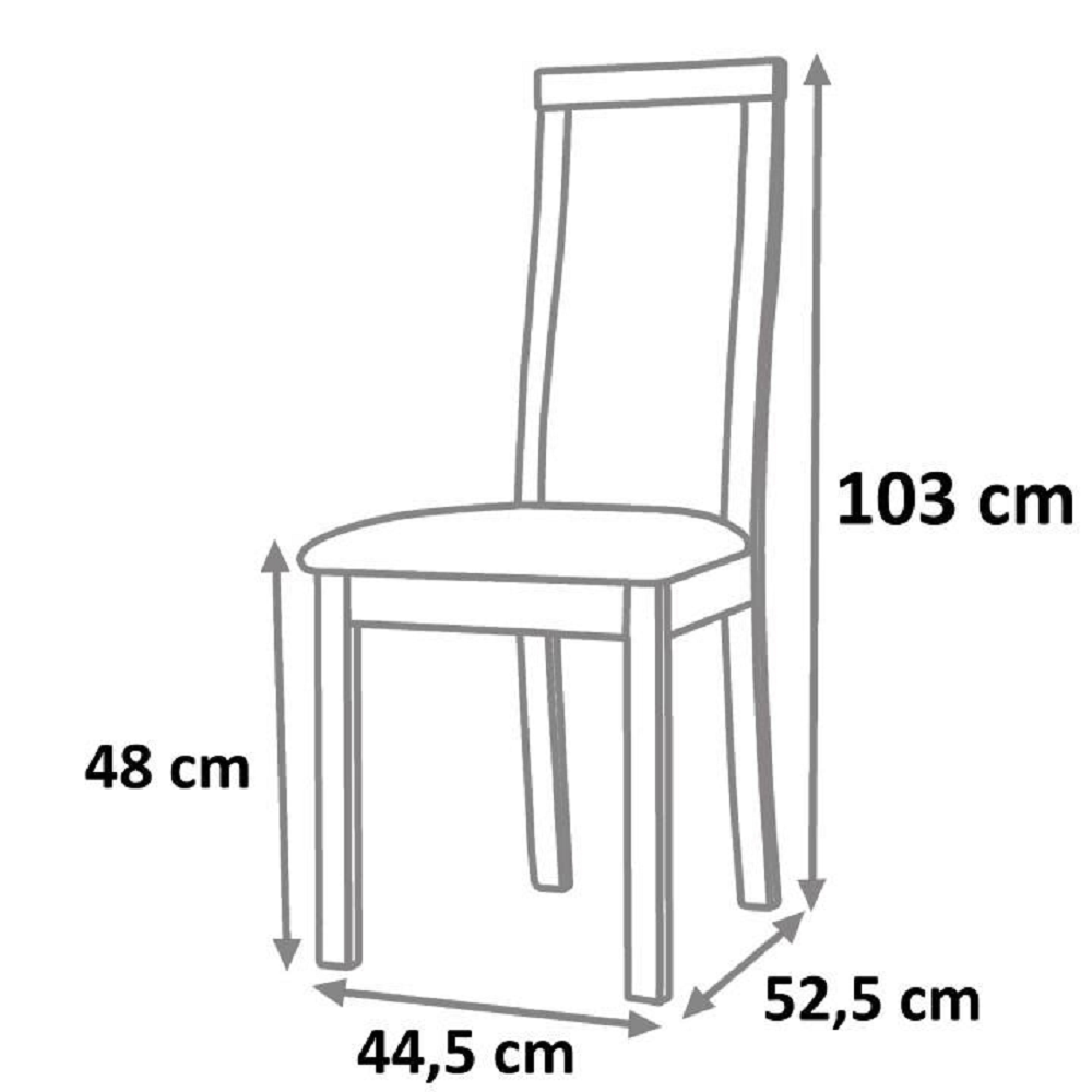 Drevená stolička, wenge/ekokoža béžová, EDINA, poškodený tovar