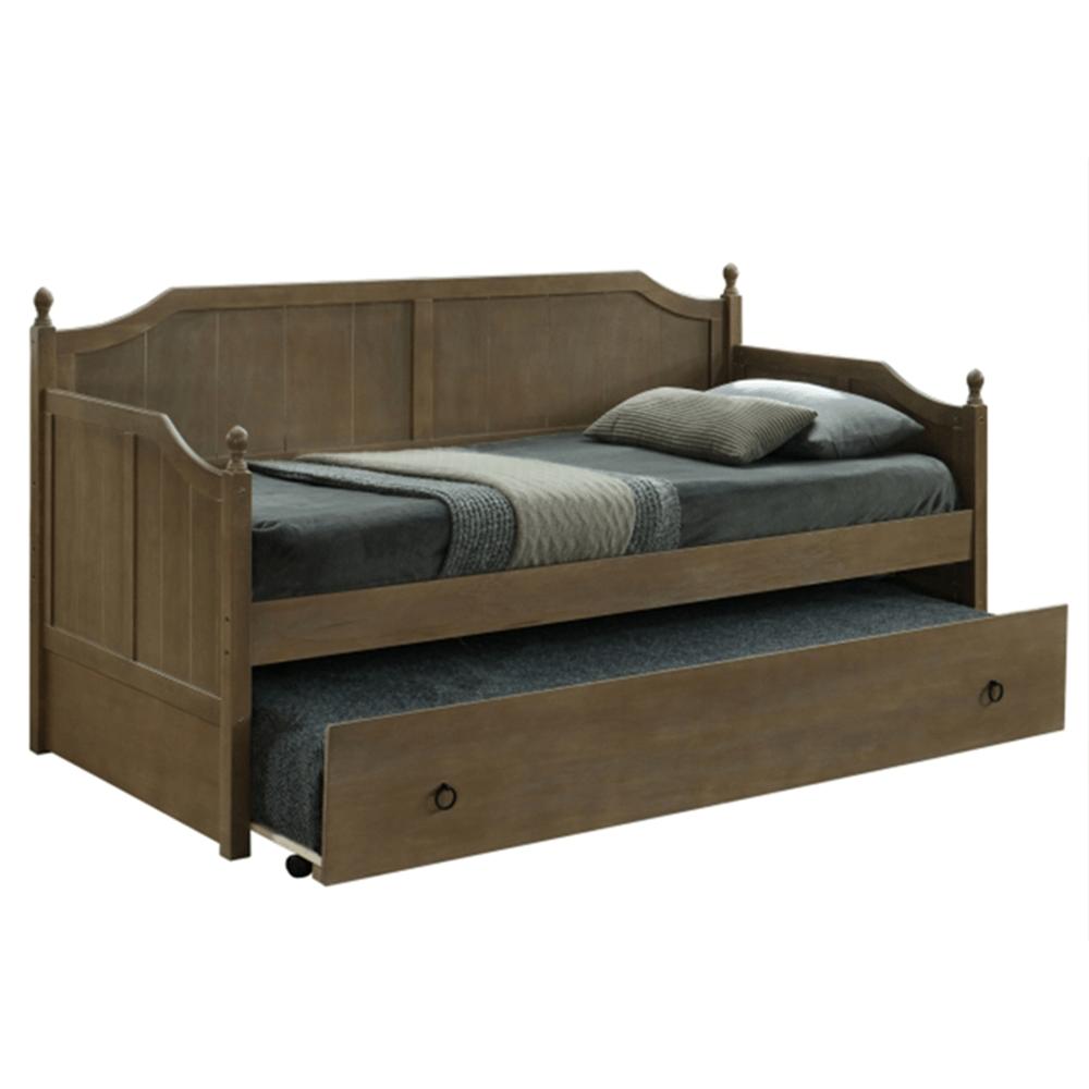 Ágy pótággyal, tölgy antik, BAROBA
