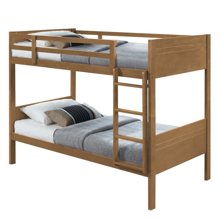 Poschodová posteľ, posteľ + rošt, dub, MAKIRA