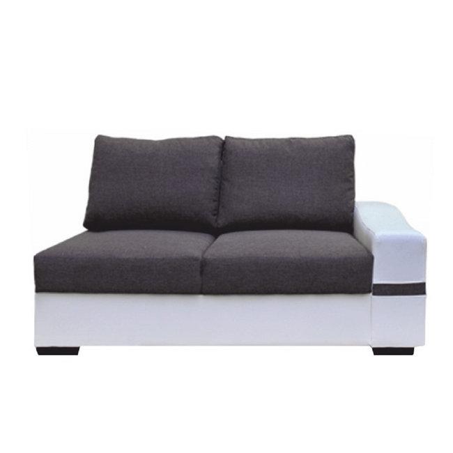 2-es ülőrész, fehér/szürke, jobbos, OREGON 08-2SED+BOK
