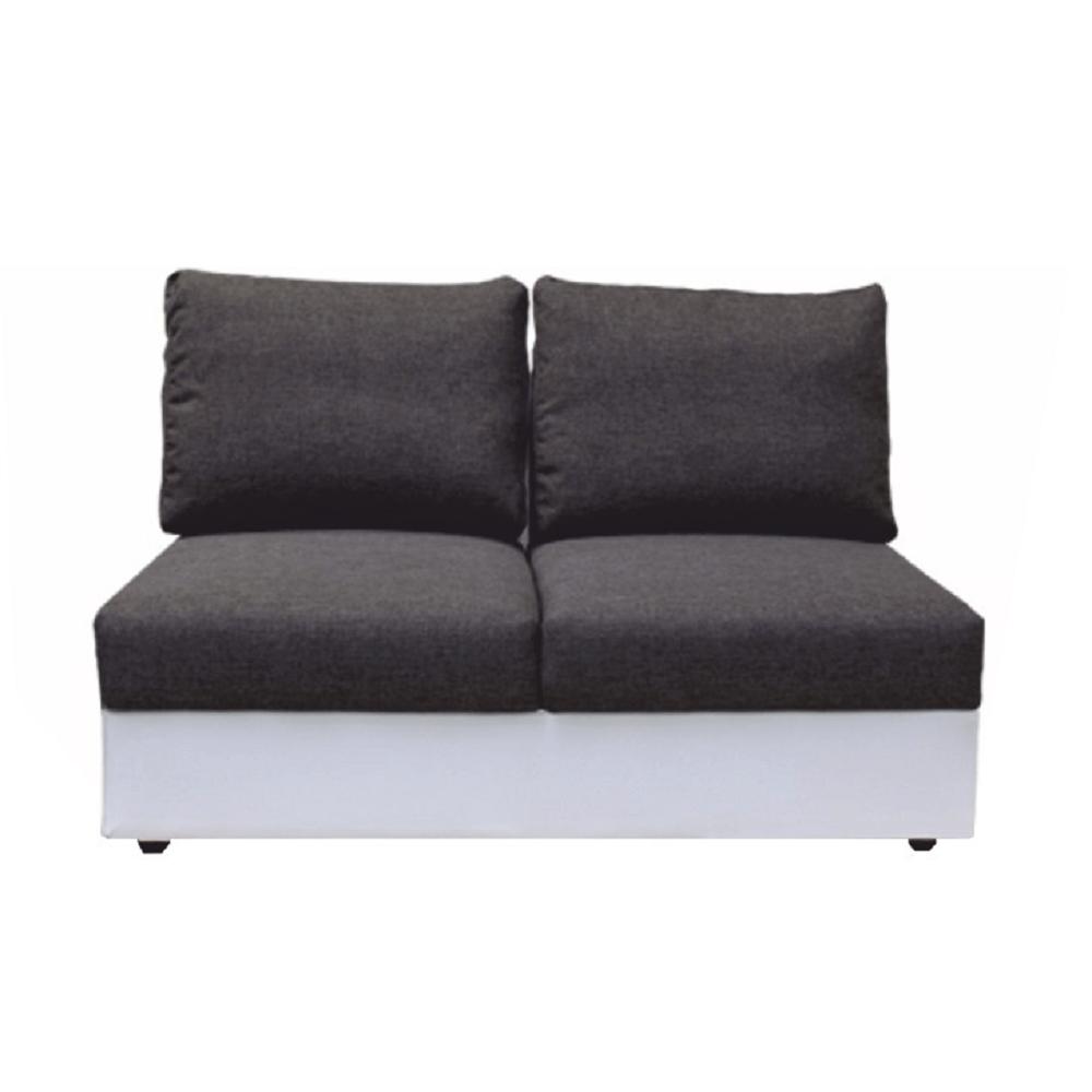 2-személyes kanapé kinyitható funkcióval, fehér/szürke, OREGON 2R03-2SED