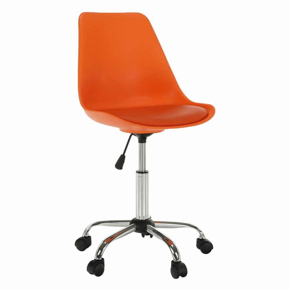 Scaun de birou, portocaliu, DARISA