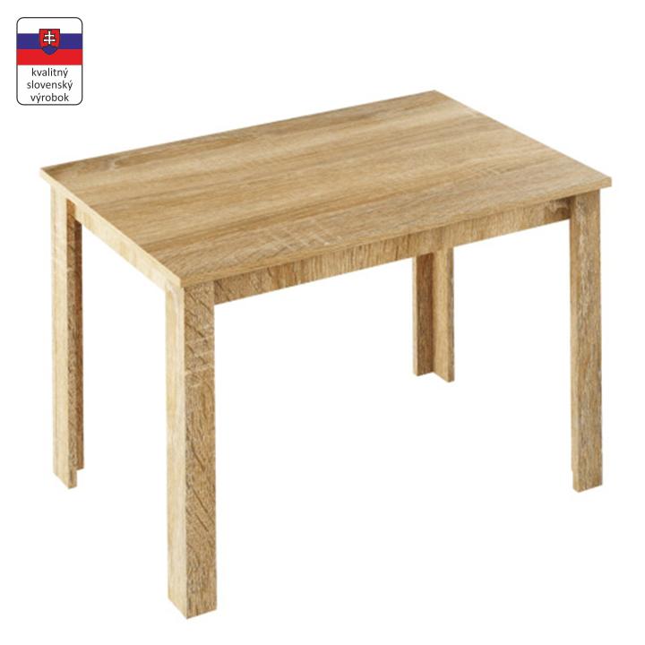 Jedálenský stôl, rozkladací, dub sonoma, LAURENCI, zložený