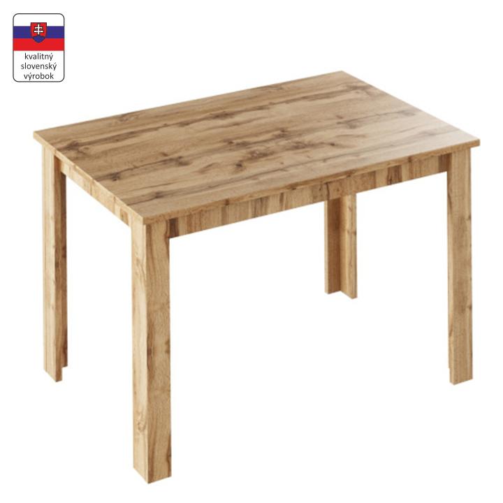Jedálenský stôl, rozkladací, dub wotan, LAURENCI, zložený